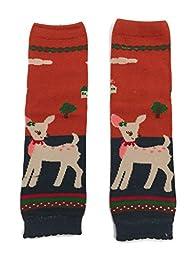 Rush Dance Christmas Holidays Baby/ Toddler Leg Warmer (One Size, Reindeer)