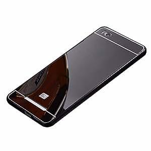 SDO™ Mirror Back Cover Case with Acrylic Bumper Frame for Xiaomi Redmi 3 / Redmi 3S (Black)