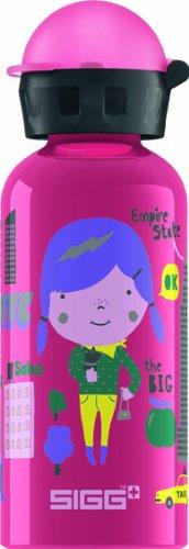 Sigg Travel Girl New York Water Bottle, 0.4-Liter, Pink front-544062
