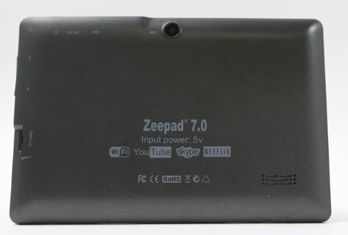 Zeepad 7' Allwinnwer A13 Boxchip Cortex A8 Android 4.2, 4gb Capacity, 512 Mb Ram, Multiple Touch Capactive Screen, Wifi, Skype Video Calling, Netflix Movies with DUAL CAMERA (Black)