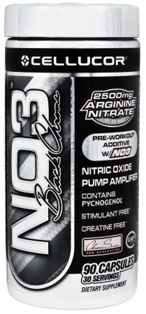 Cellucor NO3 Black Chrome 90 Capsules - Nitric Oxide Pump Amplifier