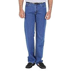 Trigger Men's Slim Jeans (TJ007_Blue_36)