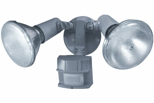 Heath Zenith SL-5411-GR-C 150-Degree Motion-Sensing Twin Flood Security Light, Gray