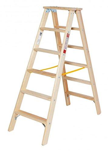 Holz-Stufenstehleiter-2x4-Stufen