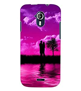 ColourCraft Love Couple Design Back Case Cover for MICROMAX CANVAS MAGNUS A117
