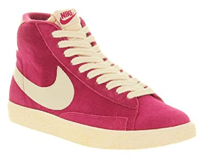 pink suede nike blazers