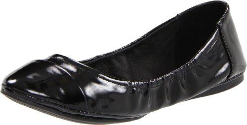 Vince Camuto Women's Ernest Flat,Black Combo/Lamb Patent,8 M US