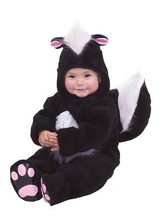 Charades Costumes 82033I Velvet Panne Skunk Infant Costume