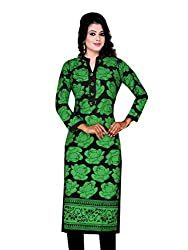 Spangel Fashion Green Color Choice Women's Cotton Stitched Kurti (Cotton, Large)