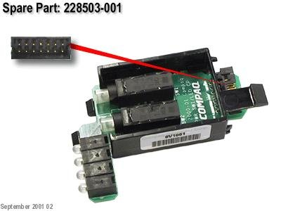 Hp 366300-001 Power Button Switch Board - With Led Indicator