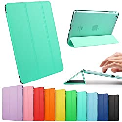 iPad Mini Case, iPad Mini Retina Case, ESR Yippee Color Series Trifold Case Smart Cover for iPad Mini with Retina Disply_ Precise Cutout for Dual microphonesl (Mint Green)
