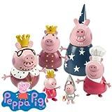 Princess Peppa Pig's Royal Family - Princess Peppa Pig - 6 Figures whole Famiy in Royal Clothing!