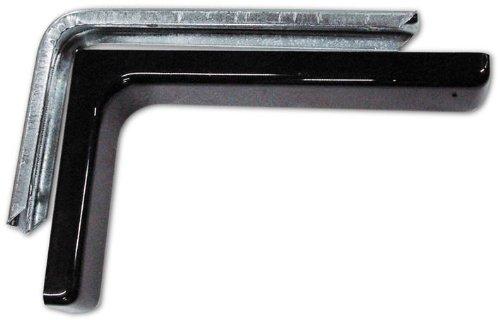 Bücherregal Möbel mit Carter in PVC schwarz 12 cm 2 Stück