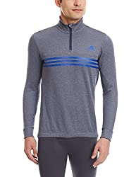 adidas Men's Polyester Sweatshirt (4055015076614_A08467_X-Large_Grey and Bold Blue)