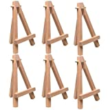 "US Art Supply® 5"" Mini Wood Display Easel Natural (6-Pack)"