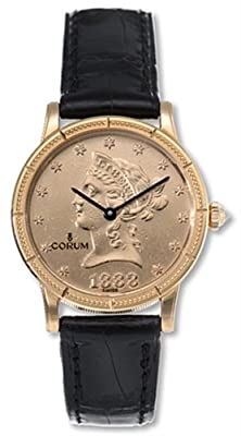 Women's 049-357-56-0081 MU36 Coin 18k gold Watch by Corum