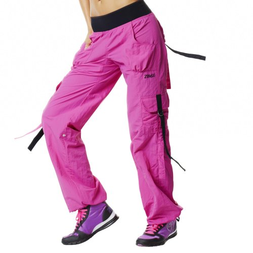 Zumba Fitness Women's Ultimate Orbit Cargo Pant - Berry, Medium