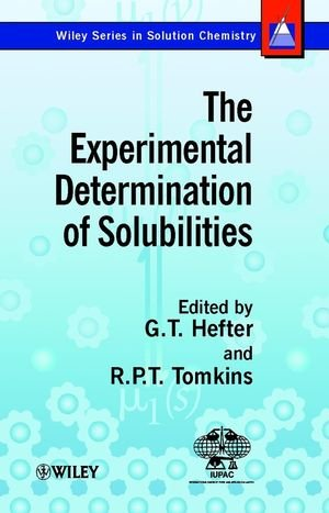 The Experimental Determination of Solubilities