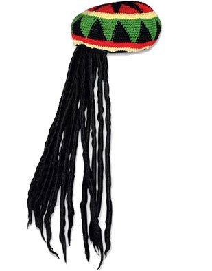 Rasta Cap with Dreadlock Hair