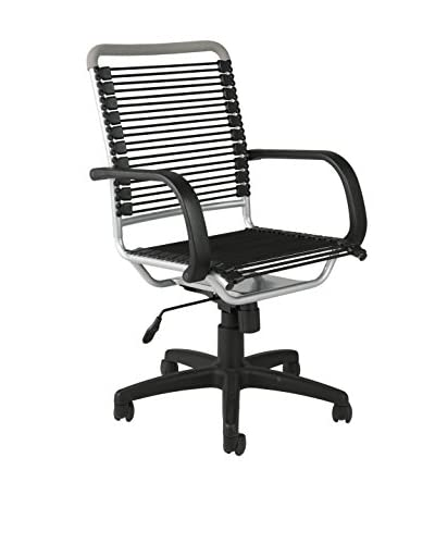 Euro Style Bungie High Back Office Chair, Black