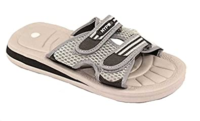 Mens Lightweight Wide Fitting Sport Style Shower Sandals Size 6 to 12 UK (7 UK, Grey)