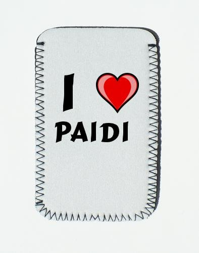 iPhone Case mit Ich liebe Paidi - Individualer iPhone Halter (Vorname/Zuname/Spitzname)