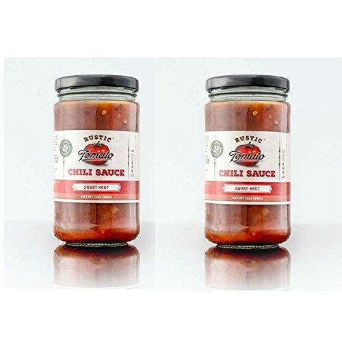 [Rustic Tomato Homemade 100% Natural Chili Sauce - 12 oz (Sweet Heat, 2-pack)] (Kikkoman Sauce Costume)