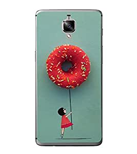 Hanging with Doughnuts 2D Hard Polycarbonate Designer Back Case Cover for OnePlus 3 :: OnePlus Three