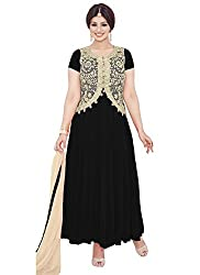 YOUR CHOICE Soft Net Blue Embroidered Women's Anarkali Suit PRI161