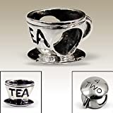 SGI Jewellery Ltd - Solid Sterling Silver Tea Coffee European Charm Bead - Fits Pandora Bracelets