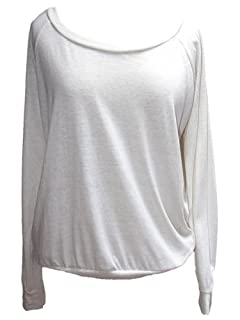 YogaColors Black Heart Tri-Blend Light Weight Raglan Pullover BR394 (X-Large, Eco Ivory)