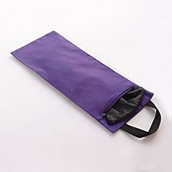 HealthAndYoga Sand Bags Double Bag with Inner Waterproof Bag Prop for adding Weight and Support (Purple)