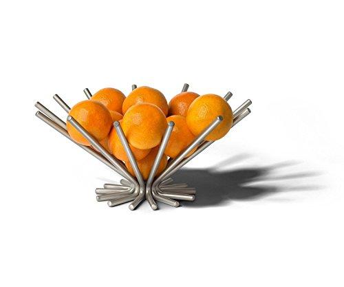 Spectrum Diversified Euro Starburst Fruit Bowl, Satin Nickel