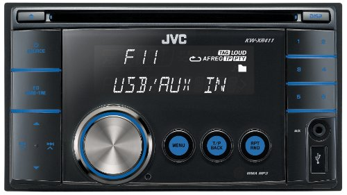JVC KW-XR411 Double Din Stereo MP3/WMA CD Receiver with Front Aux Input