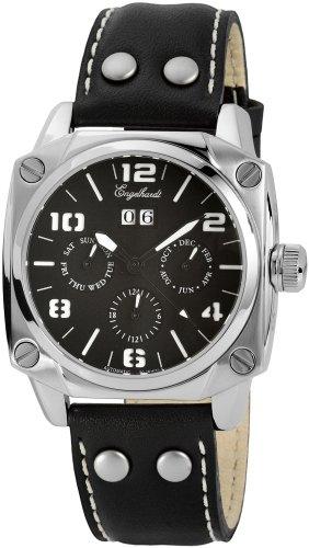 Engelhardt - 387721029013 - Montre Homme - Automatique - Analogique - Bracelet cuir noir