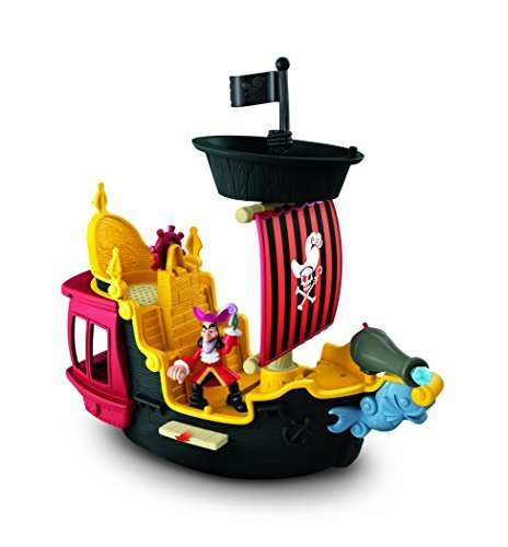 Fisher-Price Disney's Jake and The Never Land Pirates Hook's Jolly Roger Pirate Ship by Fisher-Price