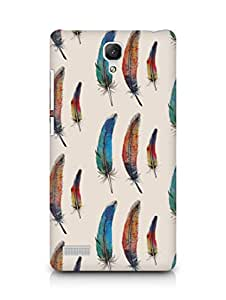 AMEZ designer printed 3d premium high quality back case cover for Xiaomi Redmi Note Prime (feathers)