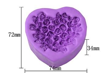 boxcute moule silicone g teaux g teaux d co p te sucre cr me fleur rose rose coeur. Black Bedroom Furniture Sets. Home Design Ideas
