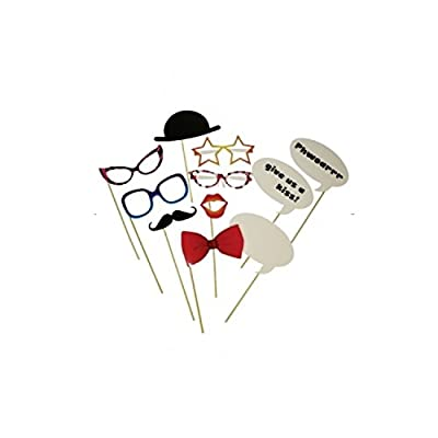 Amscan Hen Night Photo Booth Kit Costume (12 Pieces)