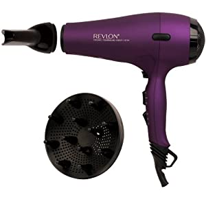 Revlon 1875W AC Motor Power Dry Hair Dryer, Purple