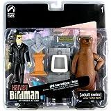 Adult Swim Action Figure Set - Harvey Birdman Phil Ken Sebben and Bear Action Figure 2-pack