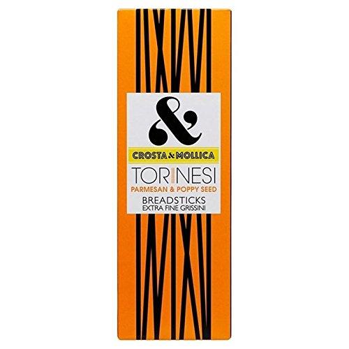 Crosta & Mollica Parmesan Torinesi & Gressins De Graines De Pavot 120G - Paquet de 2
