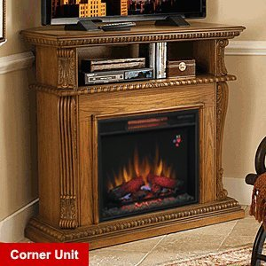 ClassicFlame Corinth Infrared Electric Fireplace Media Console in Oak - 23DE1447-O107 picture B004C5R4S0.jpg