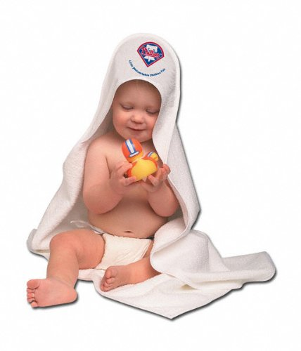 MLB Philadelphia Phillies White Hooded Baby Towel at Amazon.com