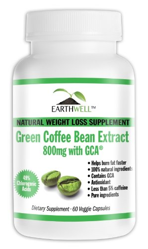 Green Coffee Bean Extract Pure with GCA Natural Weight Loss Supplement 800mg