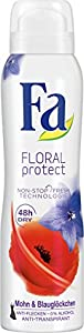 Fa Floral Protect Deospray, Mohn & Blauglöckchen 48h, 3er Pack (3 x 150 ml)