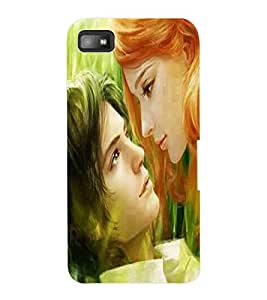 ColourCraft Romantic Couple Design Back Case Cover for BLACKBERRY Z10