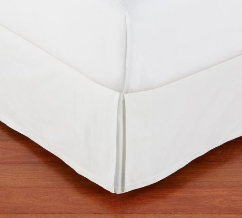 "800 Tc Solid Bed Skirt White Color King Sizeupto 21"" Drop Length"