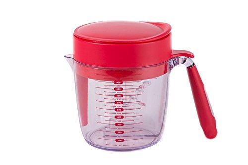 Premium Fettabschöpfer und Messen Schüssel mit Schritt Messungen 2-in-1-