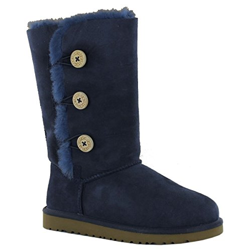 ugg-australia-bailey-button-triplet-navy-kids-boots-size-32-eu